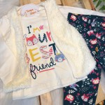 Conjunto Inverno colete  I´m your best friend off white