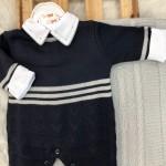 Saída de Maternidade Leonardo - Marinho e Cinza