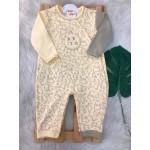 Macacão Trape Zape - Baby Dino Amarelo e Areia