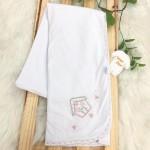 Enxoval- Cueiro de malha bordado- Casinha