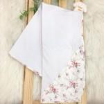 Enxoval- Cueiro de malha- Estampa florida