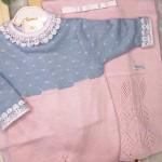 saída de maternidade- Luisa rosa e azul