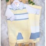 Saída de Maternidade- Noah amarelo e azul