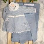 Saída de maternidade- Aurora azul claro