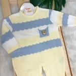 Macacao de Linha - Gael Amarelo, Azul e Branco