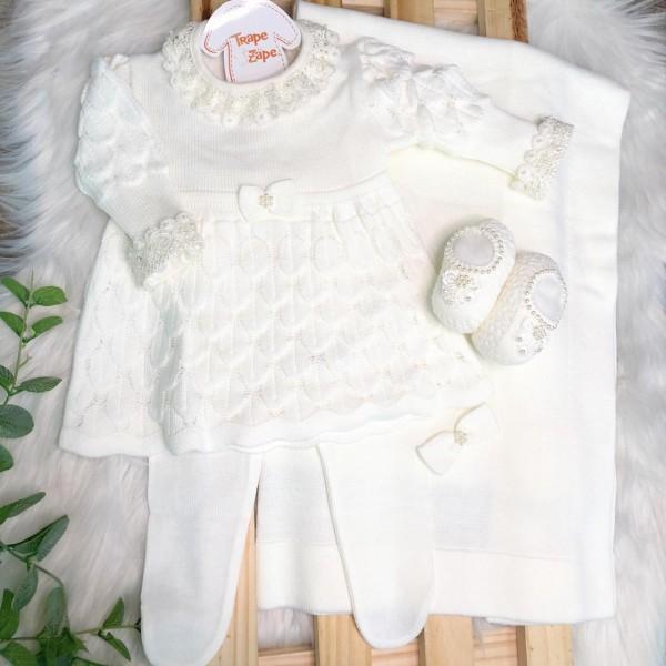 Saída de maternidade Bela- Off White SAPATO NOVO