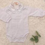 body gola bordada- asterisco azul bebe