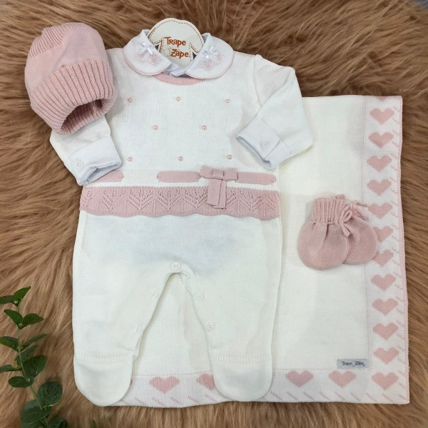 Saída de maternidade rosa