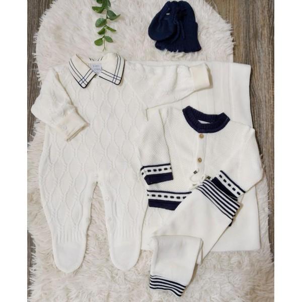 Saída de maternidade nó náutico Off White completa