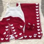 Saída de Maternidade Love- vermelho