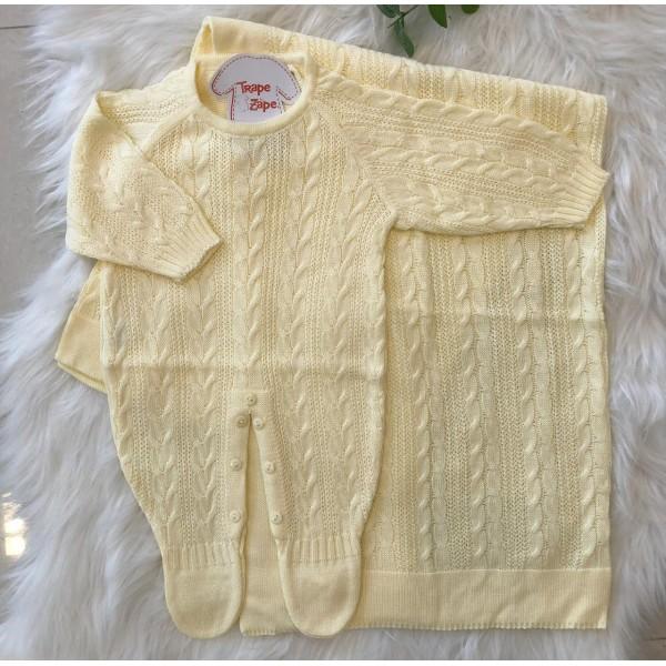 Saída de Maternidade Trança Amarelo