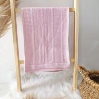 Manta de linha- luxo rosa