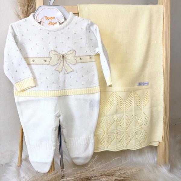 Saída de maternidade Ana Clara- Off com amarelo