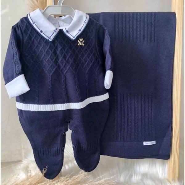 Saída de maternidade Bento- Azul Marinho