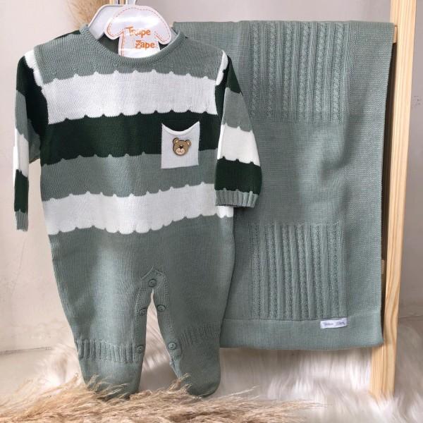 Saída de maternidade Gael- Verde, branco e verde militar