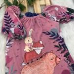 Vestido Coleção Inverno Kukiê- Ombro a Ombro Floresta