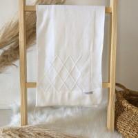 Manta de linha- losangulo off white