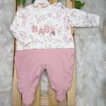 Macacão Trape Zape- Baby florido rose