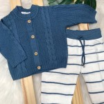 Conjunto de Linha Azul Jeans Tranca Novo