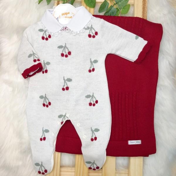 Saida Maternidade Cerejinha - Vermelha com Branco